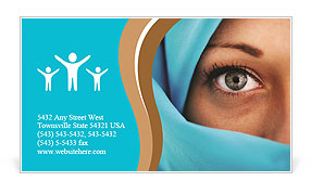 Muslim Lady Business Card Templates