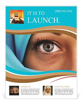 Muslim Lady Flyer Template