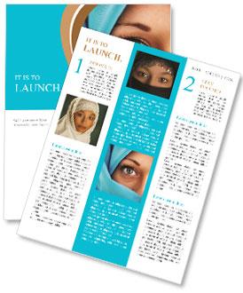 Muslim Lady Newsletter Templates