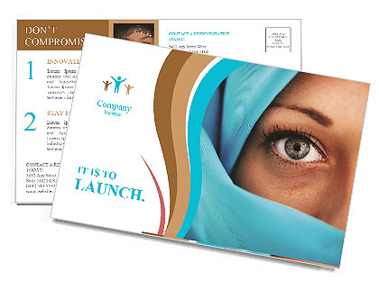 Muslim Lady Postcard Template