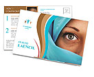 Muslim Lady Postcard Templates