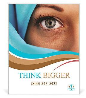 Muslim Lady Poster Template