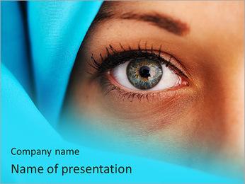 Muslim Lady PowerPoint Template - Slide 1