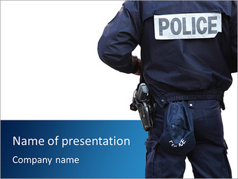Police Department PowerPoint Templates - Slide 1