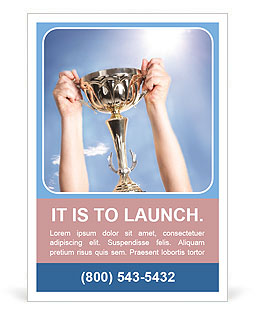 Golden Trophy Ad Template