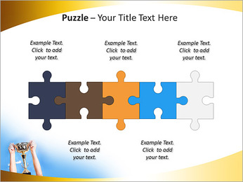 Golden Trophy PowerPoint Template - Slide 21