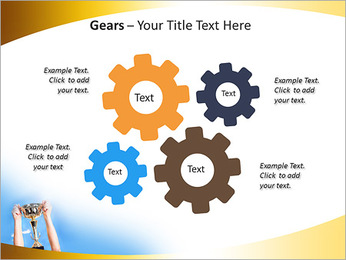 Golden Trophy PowerPoint Template - Slide 27