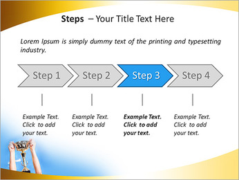 Golden Trophy PowerPoint Template - Slide 4
