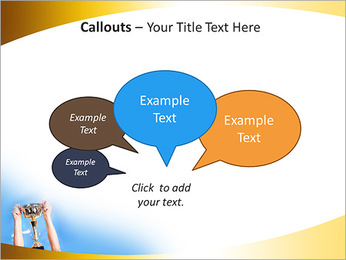 Golden Trophy PowerPoint Template - Slide 53