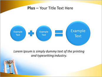 Golden Trophy PowerPoint Template - Slide 55