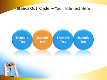 Golden Trophy PowerPoint Template - Slide 56