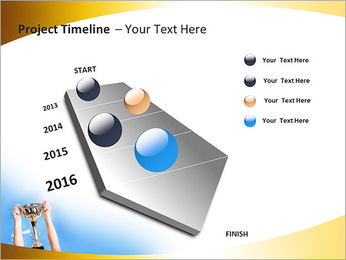 Golden Trophy PowerPoint Template - Slide 6