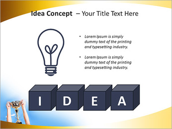 Golden Trophy PowerPoint Template - Slide 60