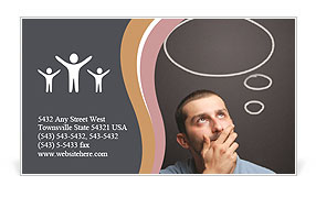 Interesting Thought Business Card Template