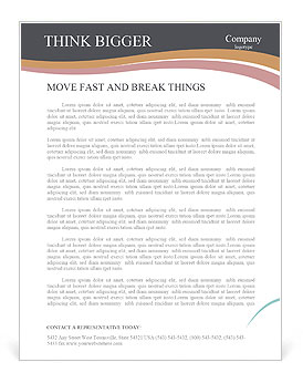 Interesting Thought Letterhead Templates