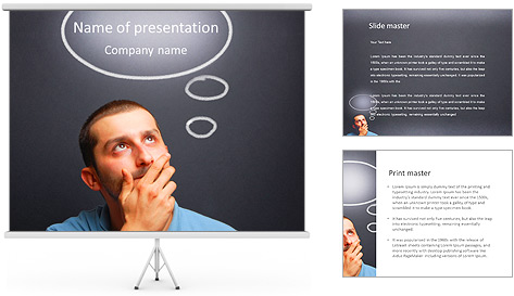 Interesting Thought PowerPoint Template