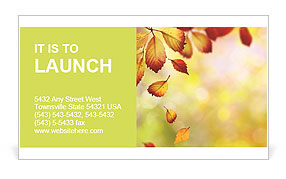 Autumn Beauty Business Card Template