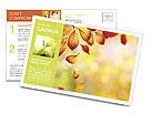 Autumn Beauty Postcard Template