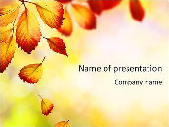 Autumn Beauty PowerPoint Template - Slide 1