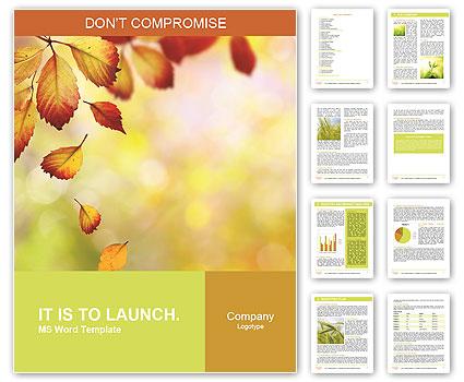 Autumn Beauty Word Template