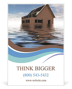 House In Water Ad Template
