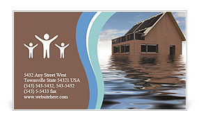 House In Water Business Card Templates