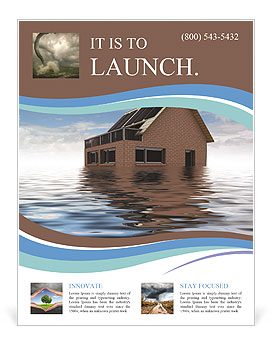 House In Water Flyer Templates