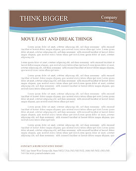 House In Water Letterhead Templates