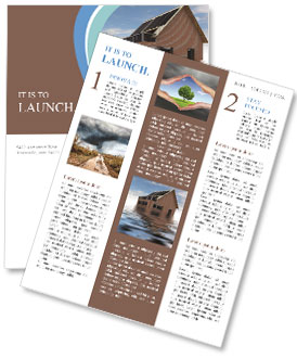 House In Water Newsletter Templates