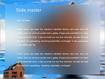 House In Water PowerPoint Template - Slide 2