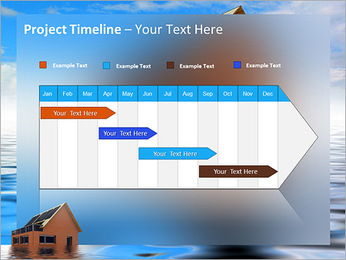 House In Water PowerPoint Template - Slide 5