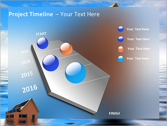 House In Water PowerPoint Template - Slide 6