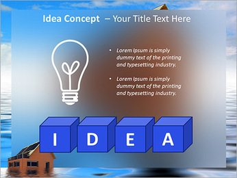 House In Water PowerPoint Template - Slide 60