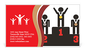 Winner Place Business Card Templates
