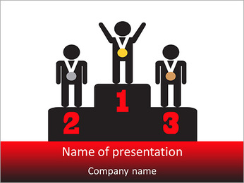 Winner Place PowerPoint Template - Slide 1