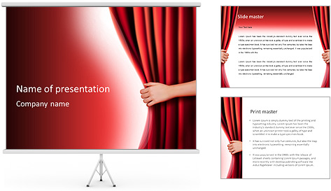 Theater Curtain PowerPoint Template