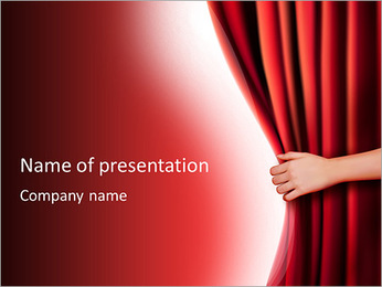 Theater Curtain PowerPoint Templates - Slide 1