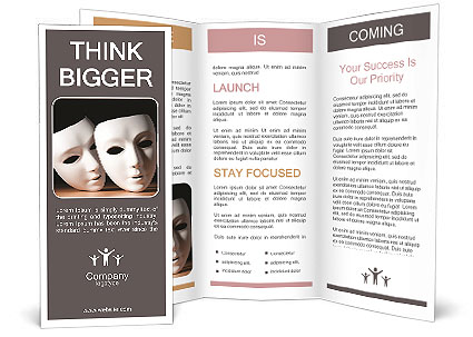Thater Mask Brochure Template