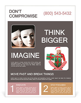 Thater Mask Flyer Templates