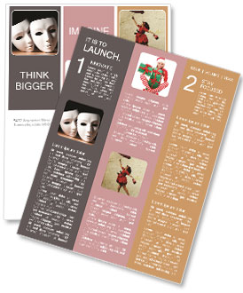 Thater Mask Newsletter Template