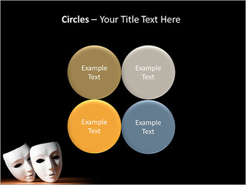 Thater Mask PowerPoint Template - Slide 18