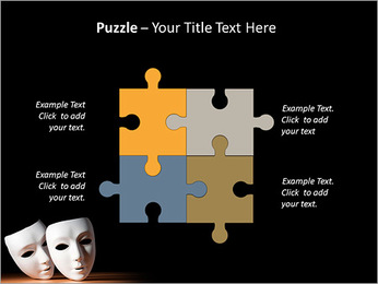 Thater Mask PowerPoint Template - Slide 23
