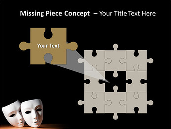 Thater Mask PowerPoint Template - Slide 25