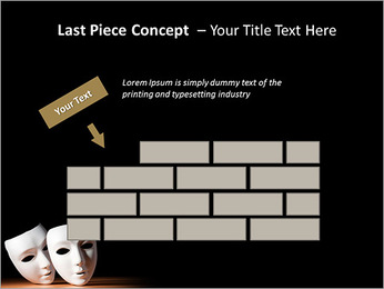 Thater Mask PowerPoint Template - Slide 26