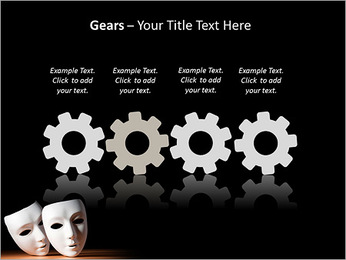 Thater Mask PowerPoint Template - Slide 28