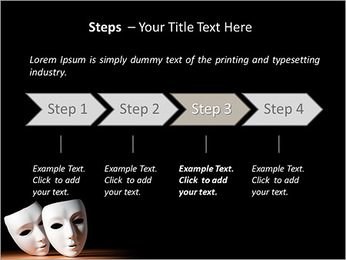 Thater Mask PowerPoint Template - Slide 4