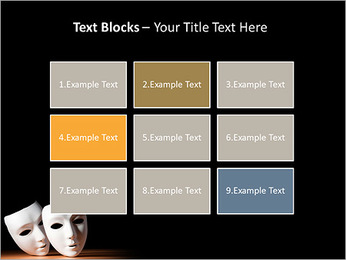 Thater Mask PowerPoint Template - Slide 48