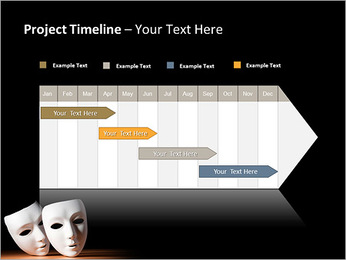 Thater Mask PowerPoint Template - Slide 5