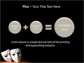 Thater Mask PowerPoint Template - Slide 55