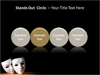 Thater Mask PowerPoint Template - Slide 56